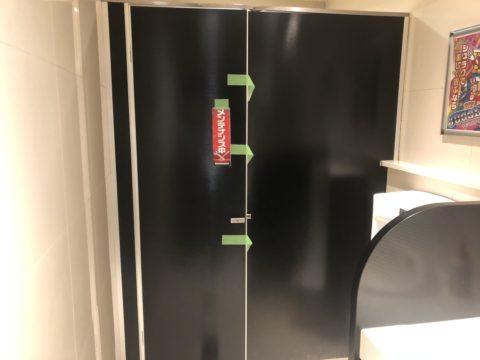 千葉県柏市店舗トイレパーテーション交換工事