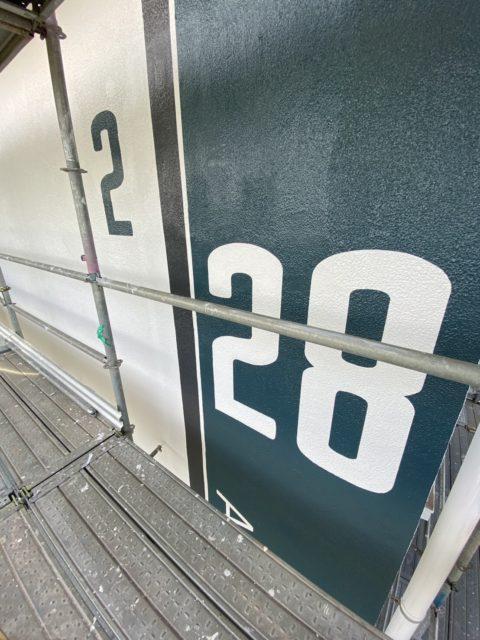 千葉県千葉市集合住宅サイン工事施行中