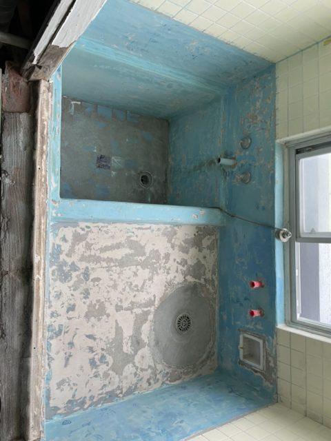 神奈川県熱海市マンション浴室防水工事